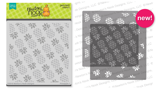Pineapple Stencil Set | 2 piece layering Stencil Set by Newton's Nook Designs #newtonsnook