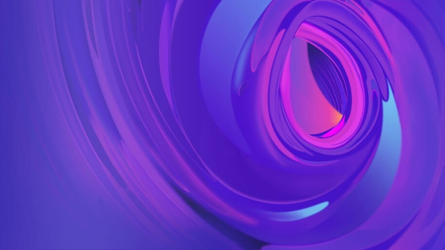 Purple, Abstract, Digital Art, 4K, #4.335