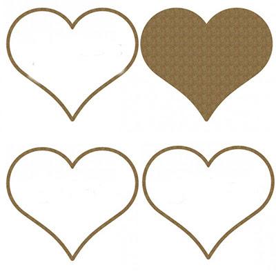 Creative Embellishments - Heart Shaker Set