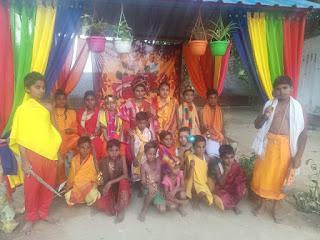 नन्हे-मुन्ने बच्चों ने किया रामलीला का मंचन | #NayaSaberaNetwork
