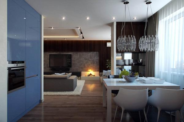 Mẫu thiết kế căn hộ 51m2 đẹp phong cách hiện đại - H2