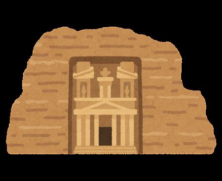 ペトラ遺跡のイラスト