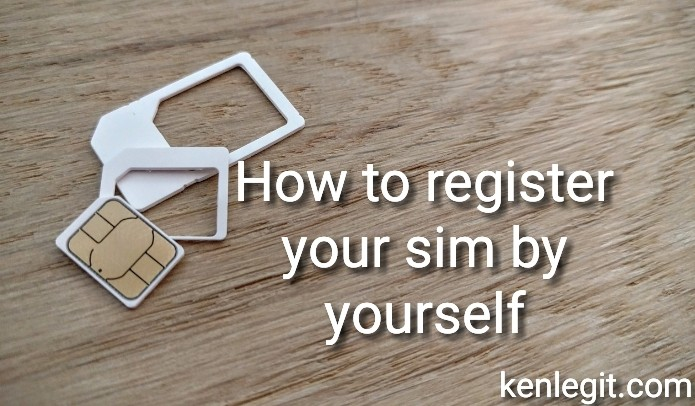 How to register your sim by yourself