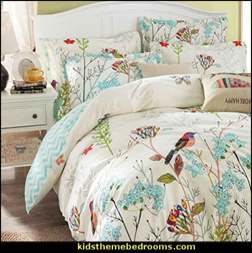 Bird Duvet Cover Set birdcage bedroom ideas - decorating with birdcages - bird cage theme bedroom decorating ideas - bird themed bedroom design ideas - bird theme decor - bird theme bedding - bird bedroom decor