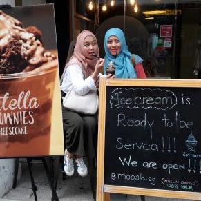 Jajan Ice Cream di Haji Lane, Singapura