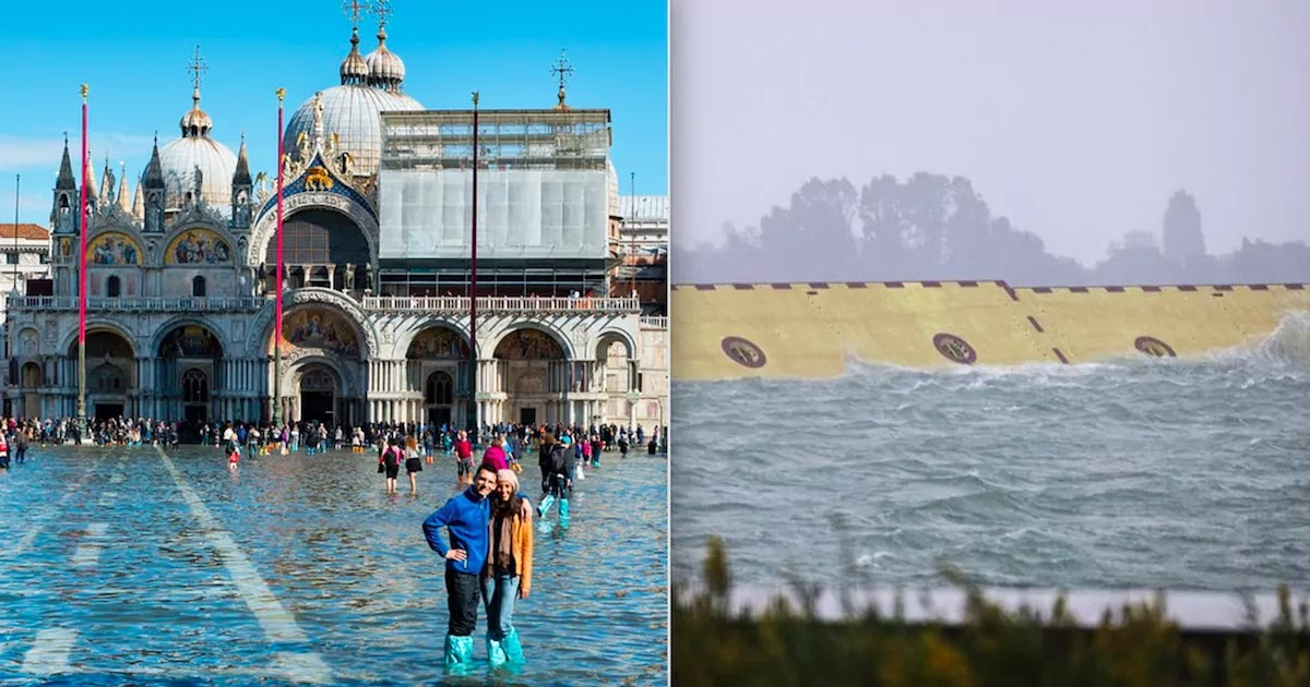 Mose Flood Barrier Finally Saves Venice From Flood Waters