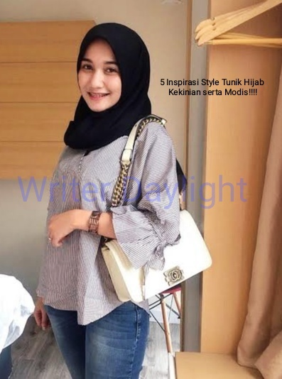 5 Inspirasi Style Tunik Hijab Kekinian Serta Modis!!!