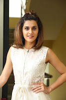 Taapsee Pannu in cream Sleeveless Kurti and Leggings at interview about Anando hma ~  Exclusive Celebrities Galleries 014.JPG