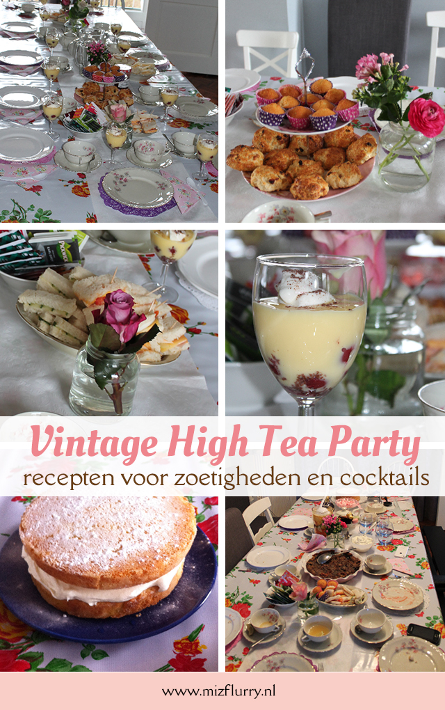 vintage high tea party recepten zoetigheden cocktails pinterest