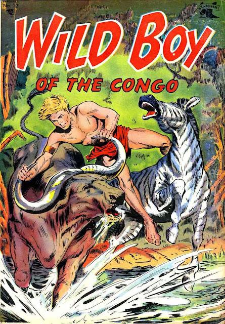 Wild Boy of the Congo v1 #13 - Matt Baker st john golden age comic book cover art