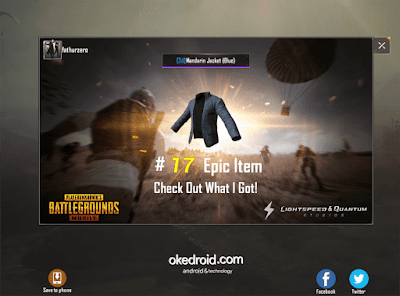 Fitur Share Screenshot di PUBG Mobile