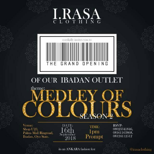 I.Rasa Clothings Launches It's Ibadan Outlet. #Irasainibadan