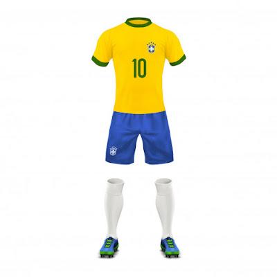 Mockup Jersey Vector Tim Brazil