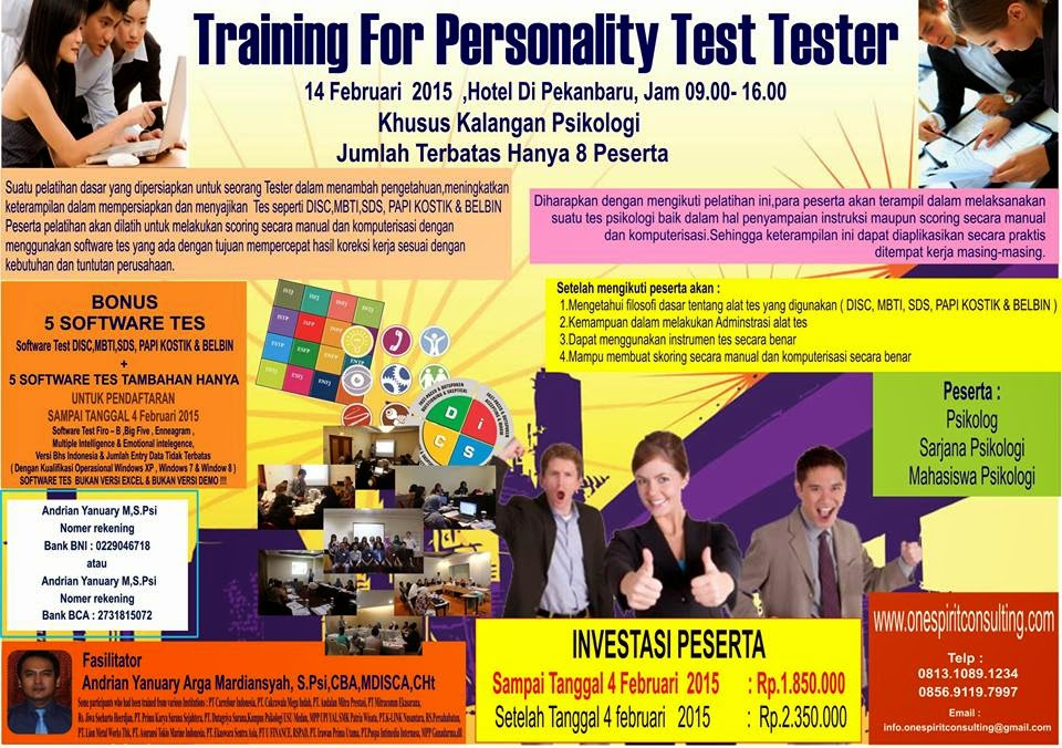 Training For Personality Test Tester Pekanbaru
