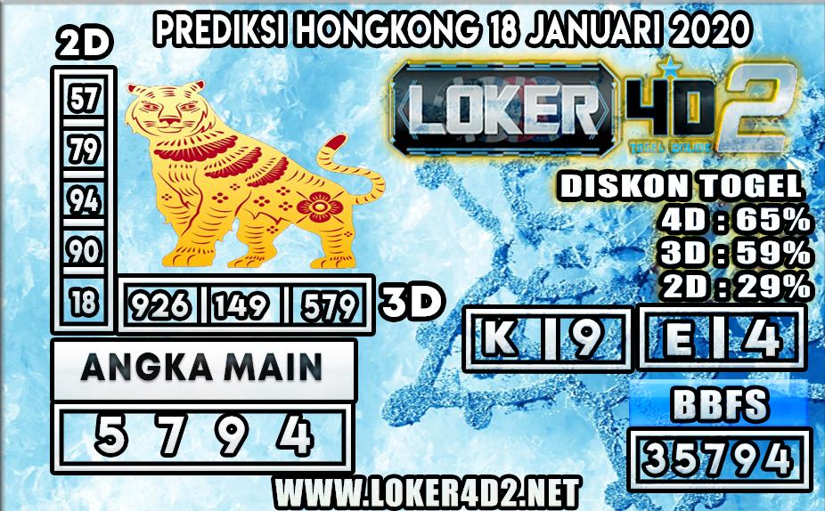 PREDIKSI TOGEL HONGKONG LOKER4D2 18 JANUARI 2020