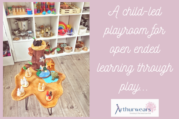 a child led playroom for open ended learning through play