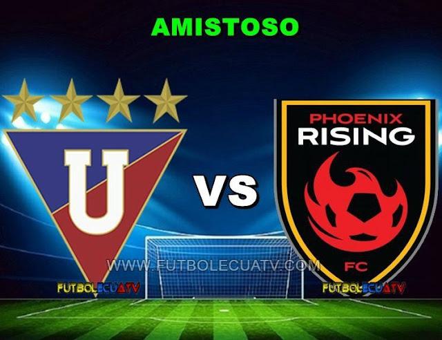 ¡Barcos y Drogba protagonizan un duelo de goleadores! Liga de Quito se mide ante Phoenix Rising a partir de las 19:30 horario local a jugarse en el campo Rodrigo Paz Delgado por un Amistoso internacional con transmisión del único canal autorizado GolTV.