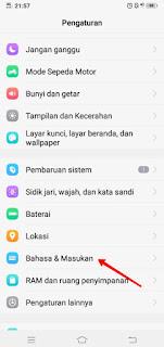 Change the language settings on the vivo mobile phone