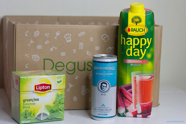 Foto zeigt Inhalt der Degustabox - Juni 2016