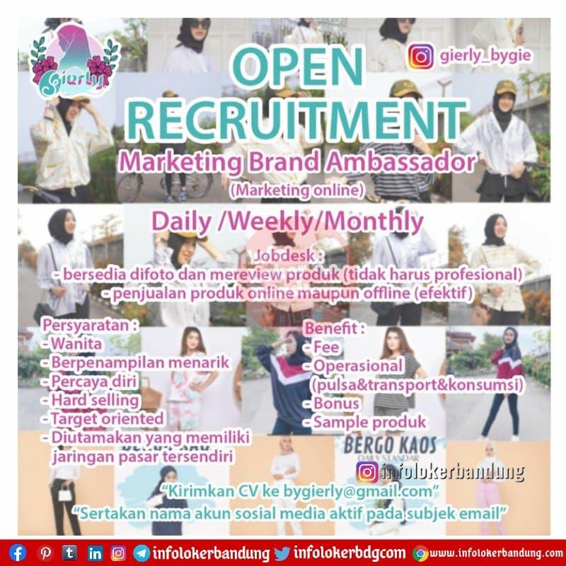 Lowongan Kerja Marketing Brand Ambassador Glerly Bygie Bandung Maret 2021
