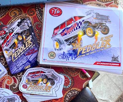 The Toy Peddler 23 Year Anniversary Custom '64 Wagon Gasser nova ttp gold chase