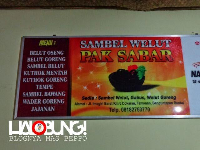 Halobung!: Makan-makan: Sambel Welut Pak Sabar