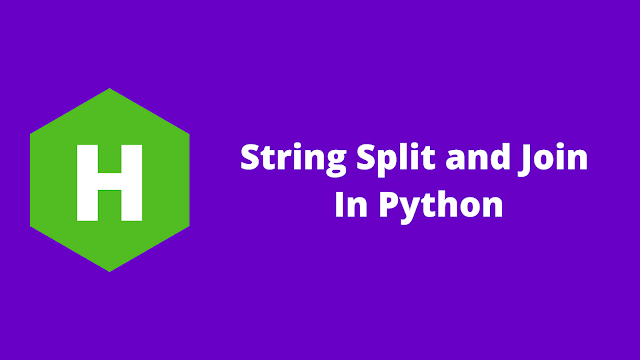 HackerRank String Split and Join in python problem solution