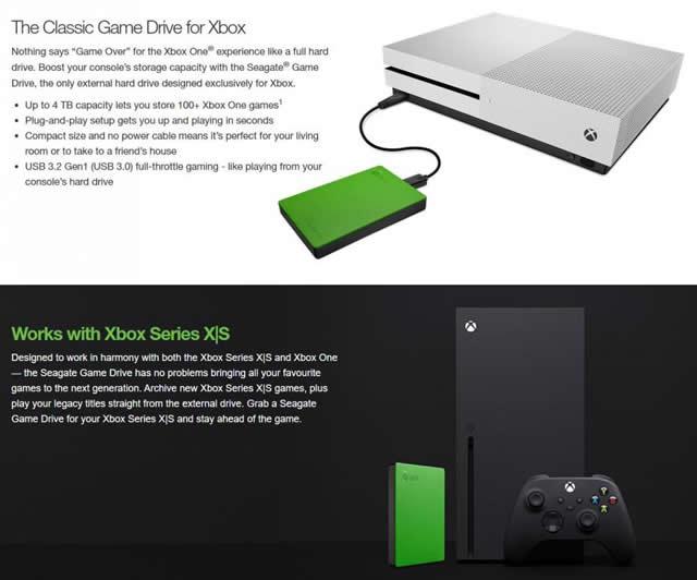 Xbox Segate Game Drive