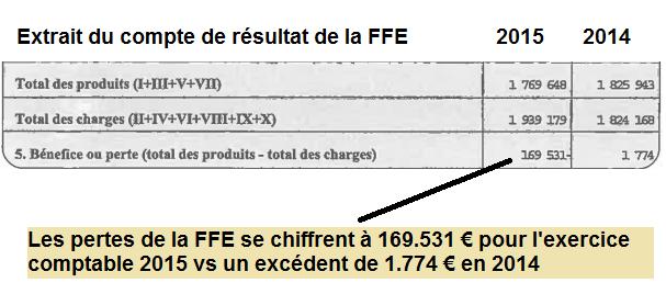Les chiffres catastrophiques des comptes 2015 de la Fédération Française des Échecs