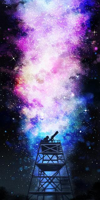 Ngắm sao dưới bầu trời đêm đầy sắc màu
