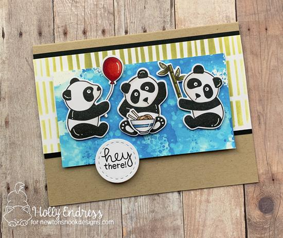 Hey There! by Holly features Playful Pandas, Serene Stripes, and Frames Squared by Newton's Nook Designs; #newtonsnook