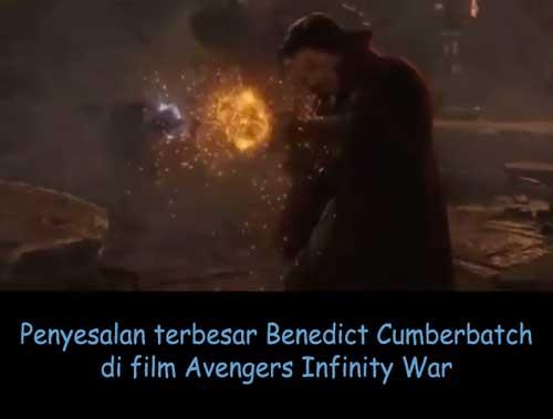 penyelasan benedict cumberbatch di film avengers infinity war