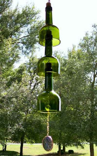 Make A Wind Chime From Recycled Wine Bottles