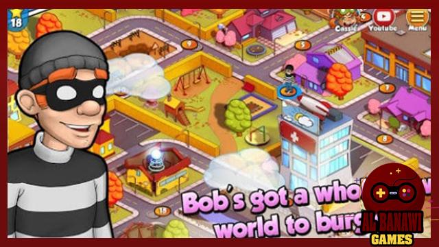 تحميل لعبة محاكي الحرامي Robbery Bob للاندرويد من الميديا فاير