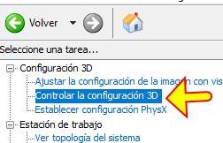 Controlar la configuración 3D