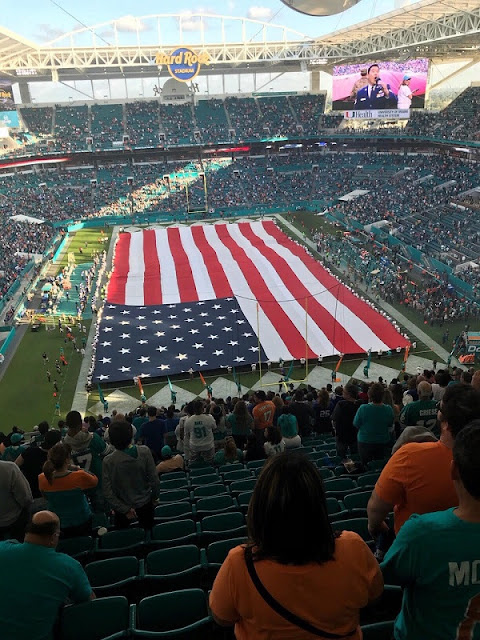 Wir beim American Football an Silvester 2017 in Miami
