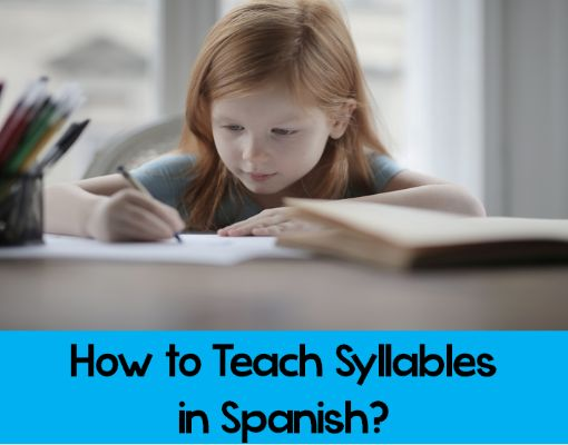 How to Teach Syllables in Spanish? Plus a FREE resource to Start the School Year