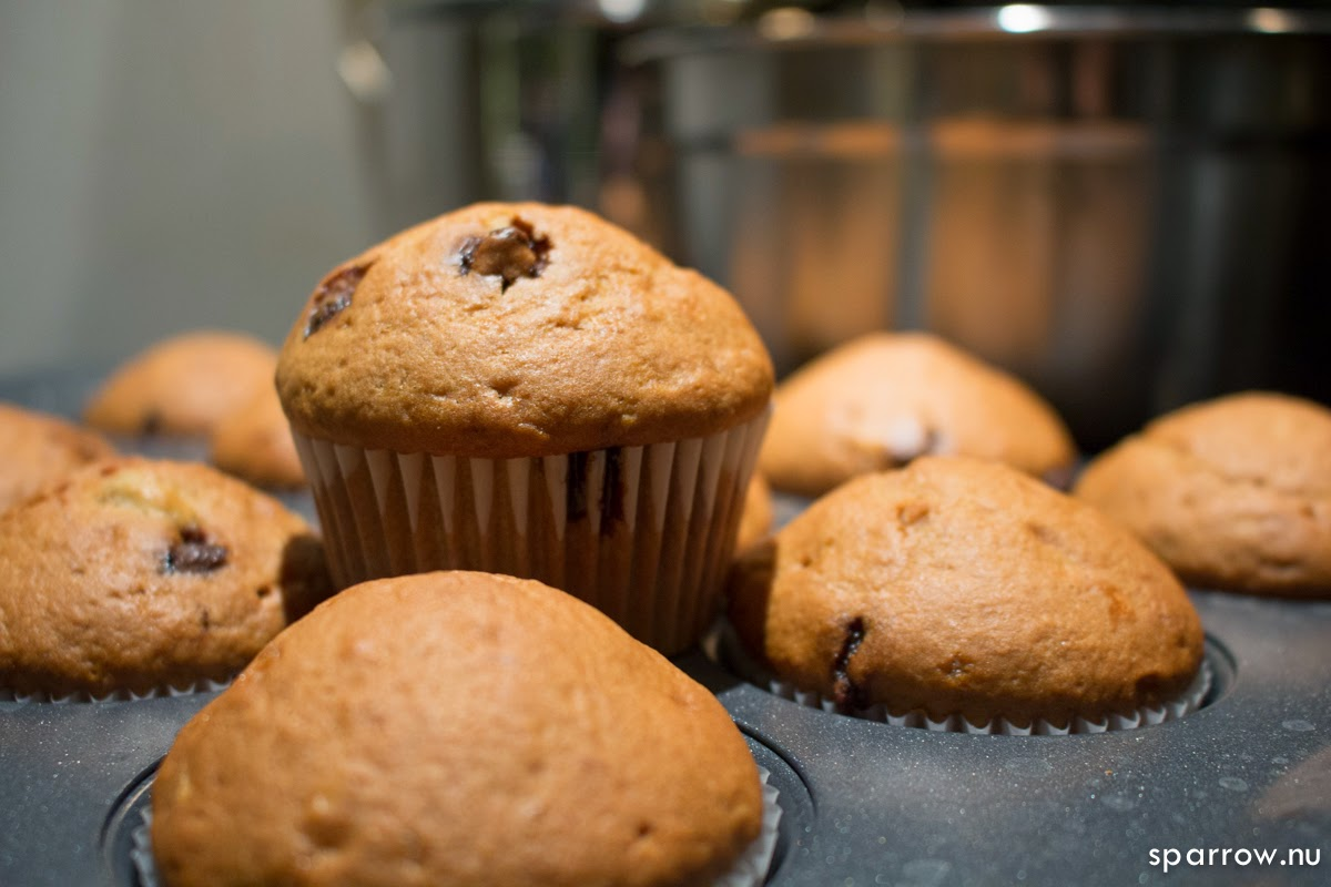 sparrow.nu: Perfect Banana Chocolate Chip Muffins