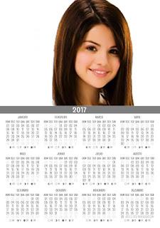 Calendário com fotos