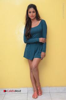 Telugu Actress Prasanthi Stills in Green Short Dress at Swachh Hyderabad Cricket Press Meet  0105.JPG