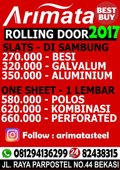 gambar daftar harga rolling door bekasi