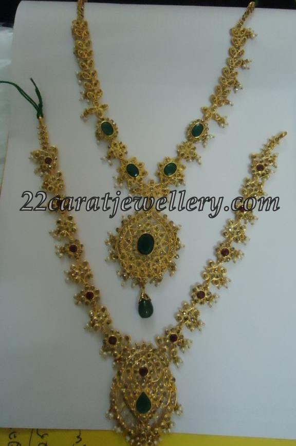 uncut diamond emerald earrings and necklaces jewellery