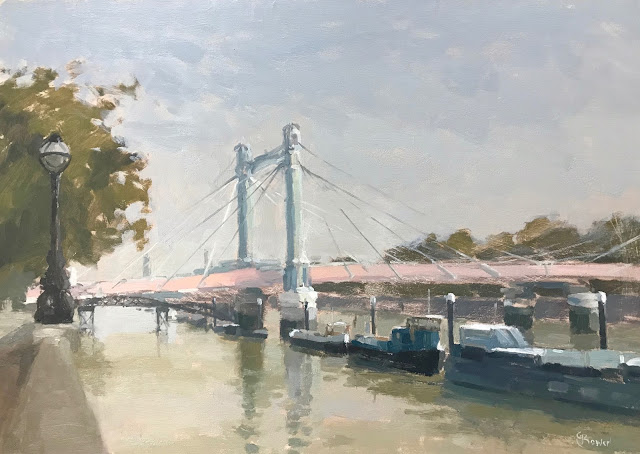 #297 'Albert Bridge' 12×16″