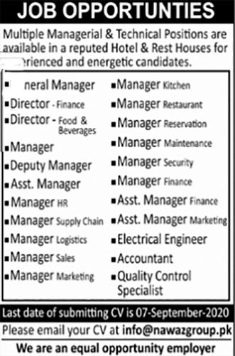 JOBS | Multiple Managerial & Technical Positions.Apply Now