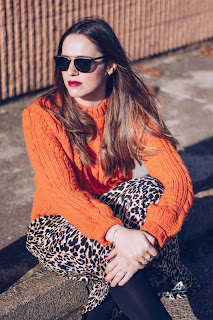 Orange and animal print