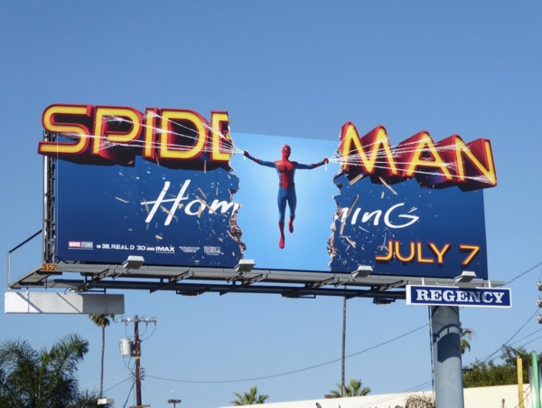 Spiderman Homecoming special extension billboard