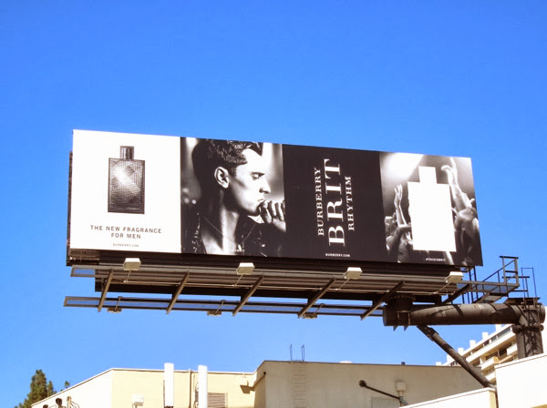 Burberry Brit Rhythm mens fragrance billboard