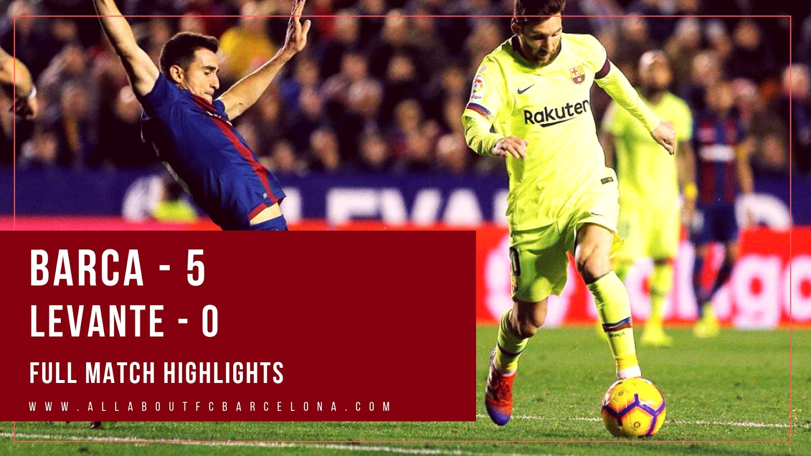 Barca vs Levante Full Match Highlights | Barca - 5 , Levante - 0