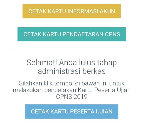 Kartu Ujian CPNS 2019 sudah bisa dicetak