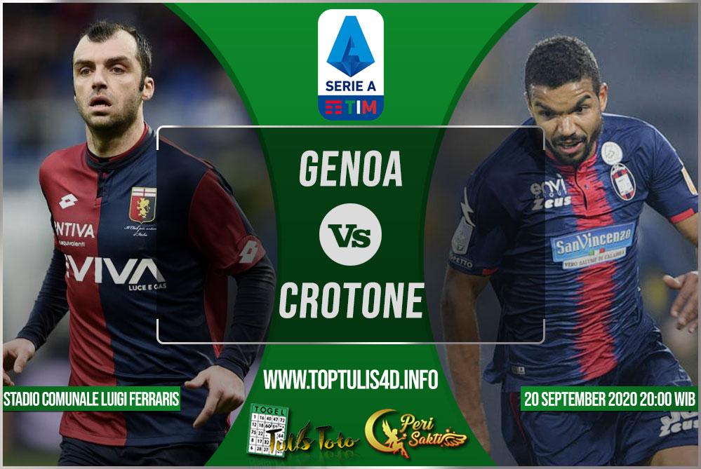 Prediksi Genoa vs Crotone 20 September 2020